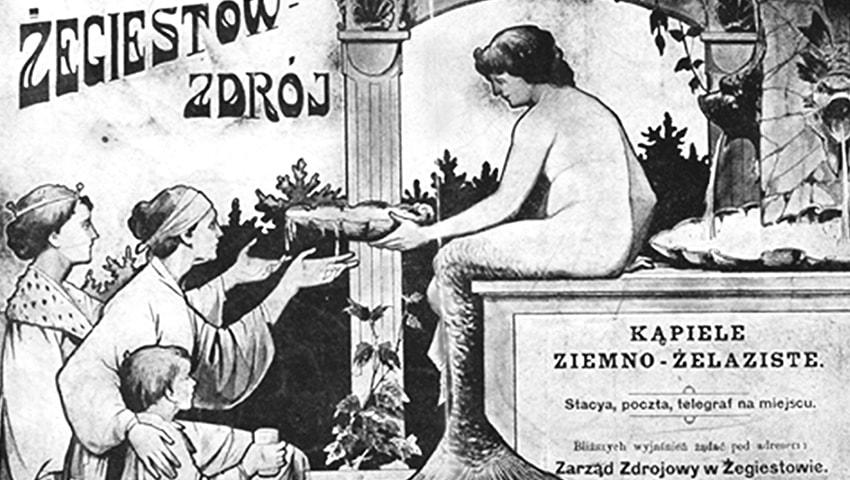 monografia uzdrowiska - Reklama uzdrowiska z1914 r. Źródło www.polona.pl