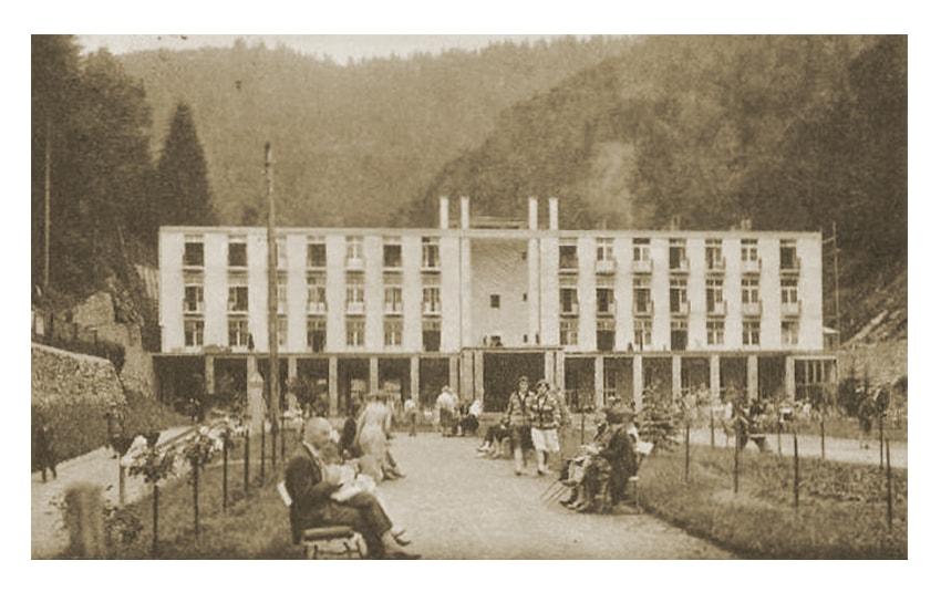 """Dom Zdrojowy """"Deptak"""" wŻegiestowie-Zdroju (1929) Nowoczesna Fotografia """"Ars"""" Żegiestów-Zdrój, Foto-ilustr. B.Furmanek"""