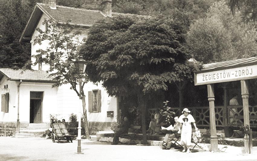 Stacja kolejowa wŻegiestowie-Zdroju, Fot.Edward Rubinek 1937 r.