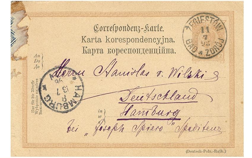 Karta Korespondencyjna Bad Żegiestów 1898