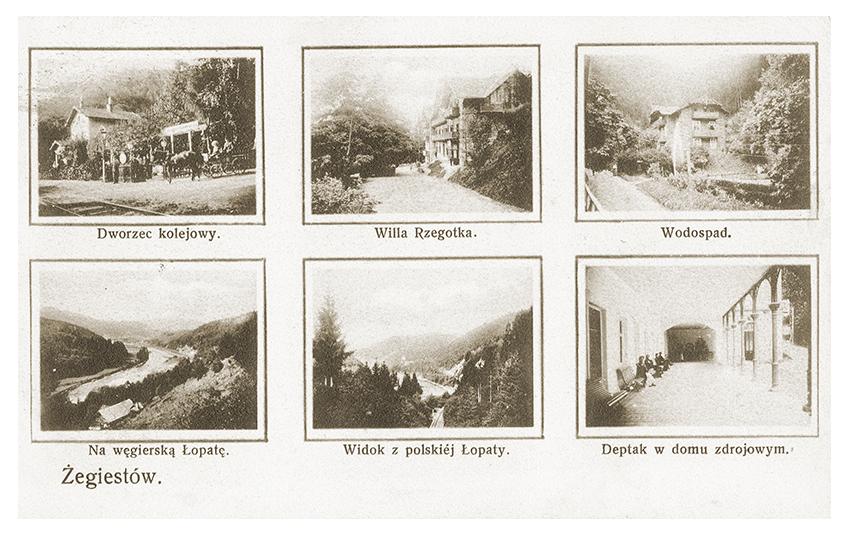 Foto składanka Żegiestów-Zdrój 1908 r.