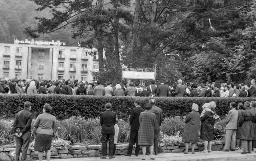 Procesja Boże Ciało wŻegiestowie-Zdroju -  1959 r.